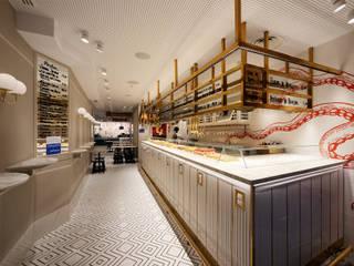 Bar-Restaurante 19 Gastronomía de estilo moderno de agm arquitectos s.l.p. Moderno