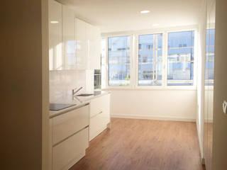 Desenho Branco Dapur Modern Beige