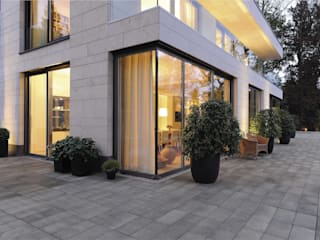 METTEN Stein+Design GmbH & Co. KG Modern balcony, veranda & terrace Concrete
