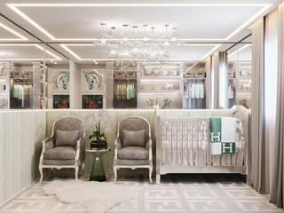 Camila Pimenta | Arquitetura + Interiores Cuarto del bebé Madera Gris