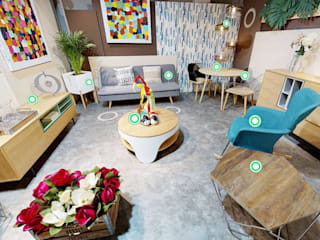 Eclectic style offices & stores by EqHo Eclectic