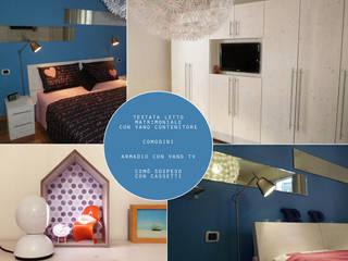 Autoprogettazione arredi Romina Sita Camera da letto in stile scandinavo Legno