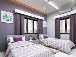 Monnaie Interiors Pvt Ltd BedroomBeds & headboards Wood Wood effect
