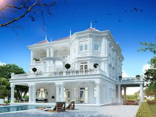 Công ty Kiến trúc Á Âu Garden Pool Concrete Blue