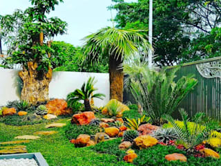 Tukang Taman Surabaya - Tianggadha-art Rock Garden Stone Green