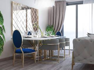 Salon Tasarımı Beyza Deniz Yaz Interiors Klasik Yemek Odası Metal Altın Sarısı