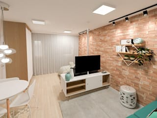 Studio Mies Arquitetura e Interiores Ruang Media Klasik