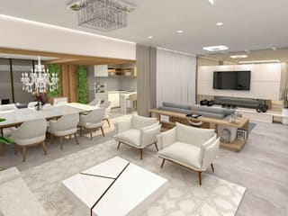 Studio Mies Arquitetura e Interiores Ruang Keluarga Modern