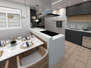 Studio Mies Arquitetura e Interiores Dapur Modern