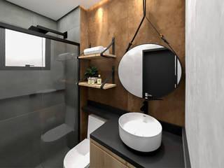Studio Mies Arquitetura e Interiores Kamar Mandi Gaya Industrial