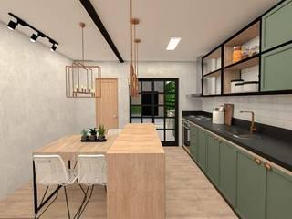 Studio Mies Arquitetura e Interiores Dapur Gaya Industrial