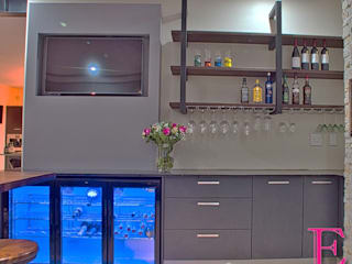 Industrial style wine cellar by Ergo Designer Kitchens Industrial