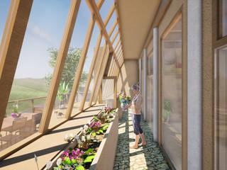 Earthbag house - in Bau Ausgefallener Wintergarten von archipur Architekten aus Wien Ausgefallen