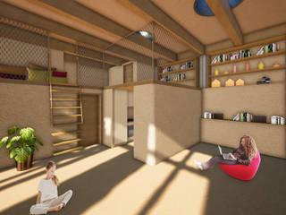 Earthbag house - in Bau Ausgefallene Wohnzimmer von archipur Architekten aus Wien Ausgefallen