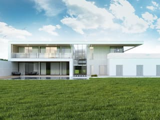 Budownictwo i Architektura Marcin Sieradzki - BIAMS Single family home Glass White