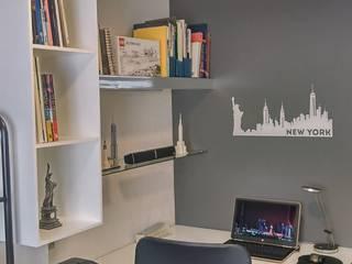 aguilar-zamora arquitectos Study/office White