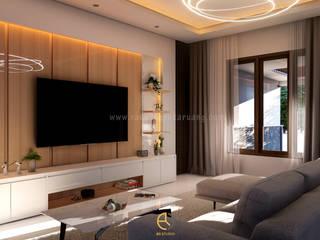 Rancang Reka Ruang Living roomTV stands & cabinets Brown