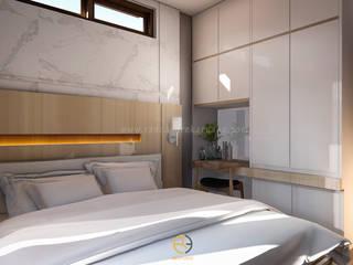 Rancang Reka Ruang BedroomBeds & headboards Grey