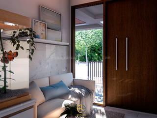 Rancang Reka Ruang Living roomSofas & armchairs Grey