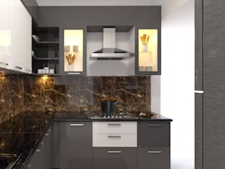 Republic of Whitefield Modern kitchen by Magnon India Modern