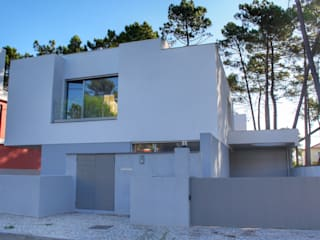 Construção de moradia na Aroeira Casas modernas por land2build Moderno