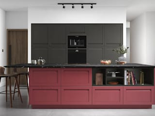 Fitted Kitchens Mya Home 廚房收納櫃與書櫃 MDF Red
