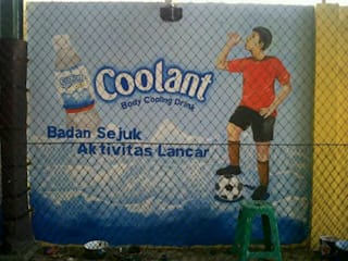 Lukis Dinding Lapangan Futsal Bintaro Raditya Design and Art ArtworkPictures & paintings Blue