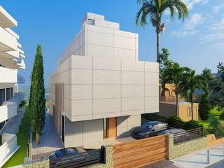Construcción casa en Ibiza de Paisajismo y Mantenimiento Hibiscus Moderno