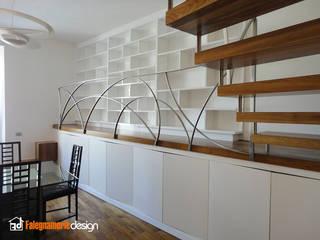 Libreria moderna Soggiorno moderno di Falegnamerie Design Moderno