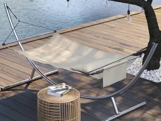 Hängematte oder Hängesessel sicher aufhängen. Moderner Balkon, Veranda & Terrasse von CrazyChair Hängematten Modern