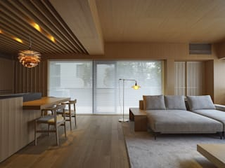 豊中の家 和風デザインの リビング の NOMA/桑原淳司建築設計事務所 和風
