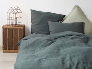 Auden Home اتاق خوابمحصولات نساجی کتان Green