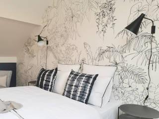 Papier peint Jungle Tropical Noir et Blanc - Par Architecte d'intérieur Sev' My Home Ohmywall Murs & SolsPapier peint