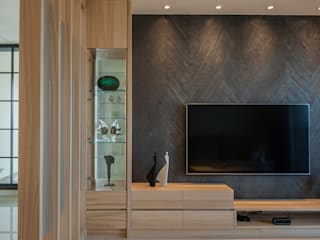 新竹縣竹北市-大城有德,呂宅 意颺空間設計有限公司 现代客厅設計點子、靈感 & 圖片