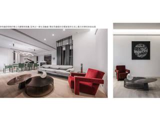 藝風靜廊 现代客厅設計點子、靈感 & 圖片 根據 行一建築 _ Yuan Architects 現代風