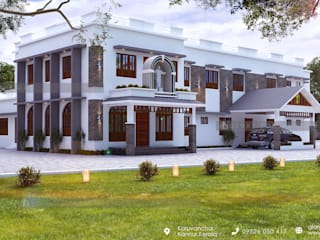 Best construction company in kannur Classic style houses by Glory Constructions Classic