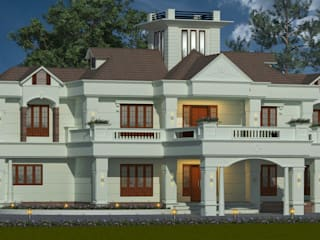 Famous construction company in Kannur Classic style houses by Glory Constructions Classic