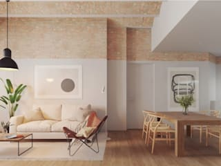 Plurifamiliar Barcelona ecoarquitectura Salones de estilo moderno