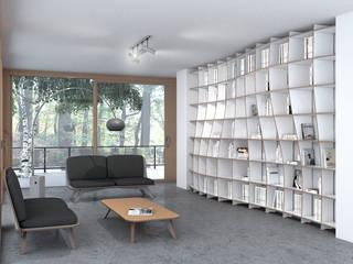 form.bar Living roomShelves MDF White