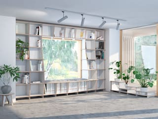 form.bar Living roomShelves Engineered Wood White