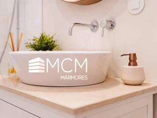Casas Banho Marmores MCM Casas de banho modernas Calcário Bege