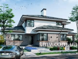 Современный двухэтажный коттедж без гаража TMV 66A от TMV Architecture company