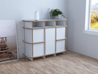 form.bar BedroomWardrobes & closets MDF White