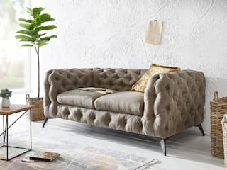 DELIFE ห้องนั่งเล่นโซฟาและเก้าอี้นวม สิ่งทอ Brown
