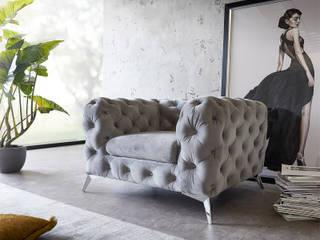 DELIFE ห้องนั่งเล่นโซฟาและเก้าอี้นวม สิ่งทอ Grey