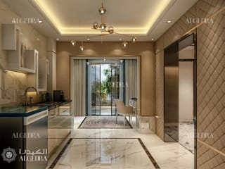 Villa entrance design ideas Modern Corridor, Hallway and Staircase by Algedra Interior Design Modern