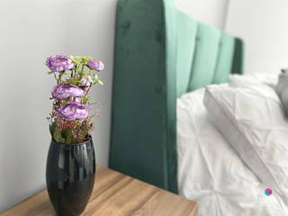Pirules, casa muestra Estudio Chipotle RecámarasCamas y cabeceras Textil Verde