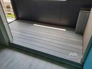 新綠境實業有限公司 Balkon Holz-Kunststoff-Verbund Weiß