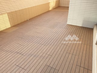 Varandas, alpendres e terraços asiáticos por 新綠境實業有限公司 Asiático
