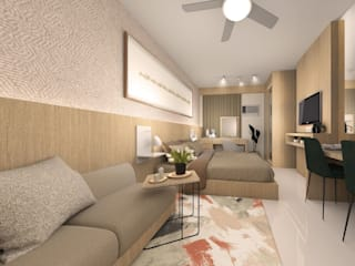 Quadraforma Construction Dormitorios de estilo minimalista Acabado en madera